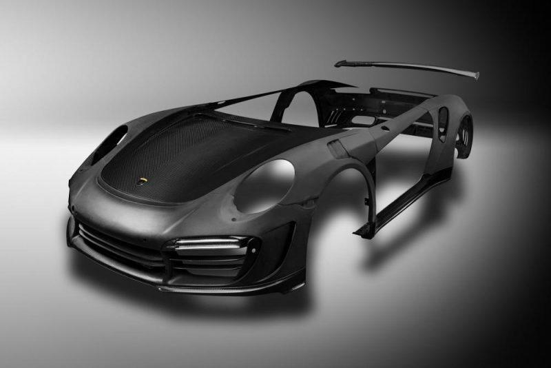 Intera carrozzeria in carbonio per la Porsche di TopCar