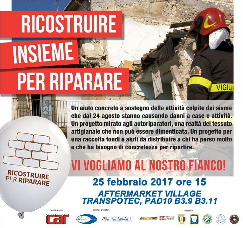 """""""Ricostruire per Riparare"""": approda a Transpotec l'iniziativa solidale per aiutare carrozzerie e officine colpite dal terremoto"""