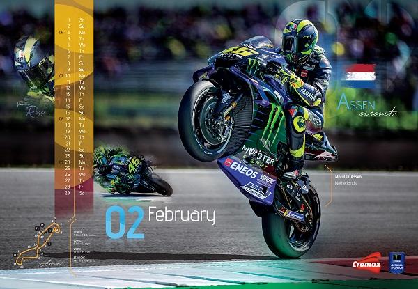 Monster Energy Yamaha MotoGP al fianco di Cromax, Sponsor Ufficiale del Team, per il calendario 2020
