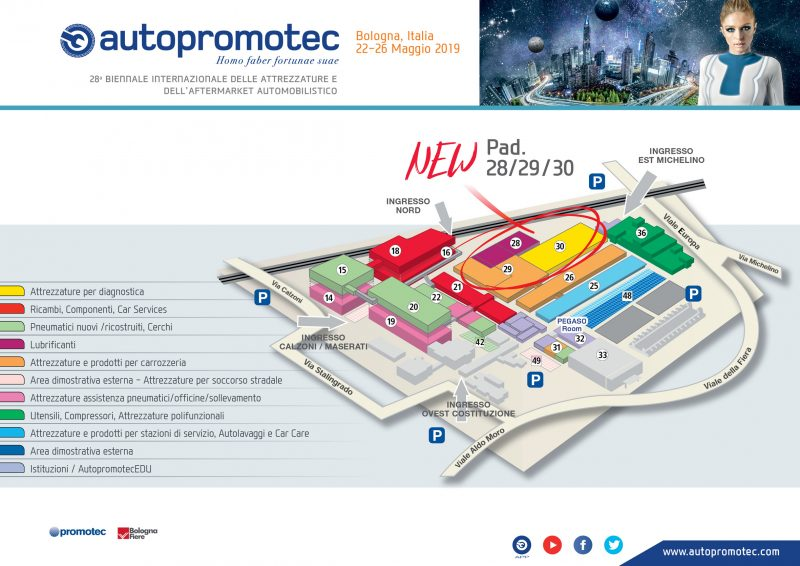 Ridefinita la mappa espositiva di Autopromotec 2019