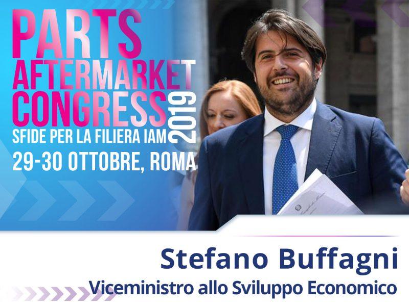 Il Viceministro allo Sviluppo Economico Stefano Buffagni al Parts Aftermarket Congress