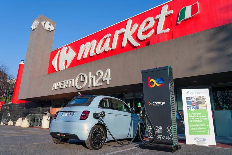 250 nuove colonnine di ricarica Be Charge presso i supermercati Carrefour