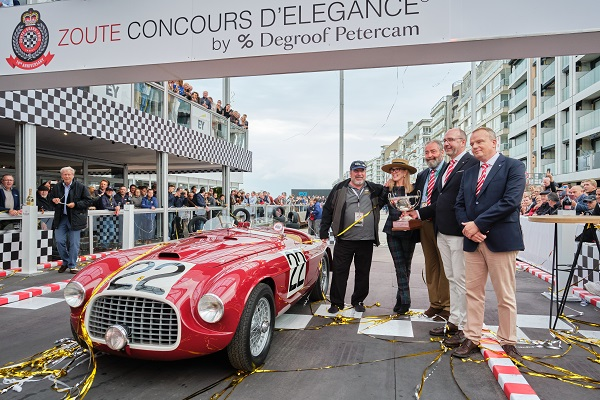 Touring Superleggera pluripremiata a Zoute Concours d'Elegance 2019