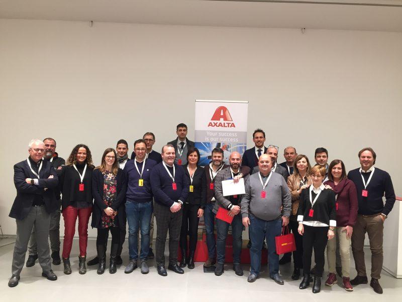 Il Team Axalta Italia a Maranello per incontrare Volvo Trucks