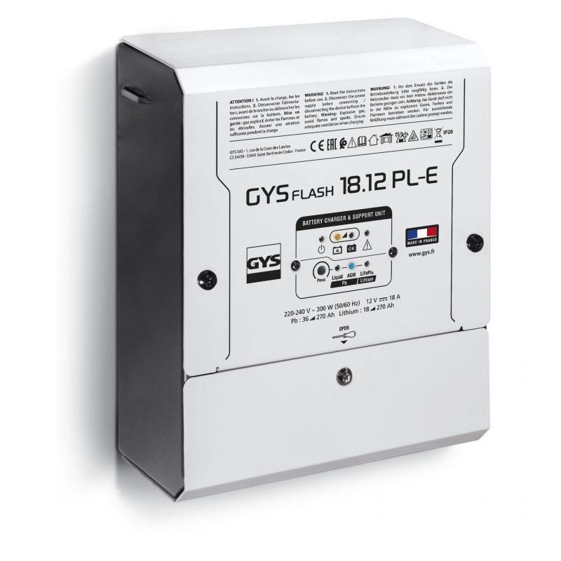 Nuovo caricabatterie GYSFLASH 18.12 PL-E per la ricarica ottimale delle batterie di servizio