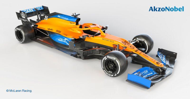AkzoNobel rinfresca lo stile della nuova McLaren di Formula 1