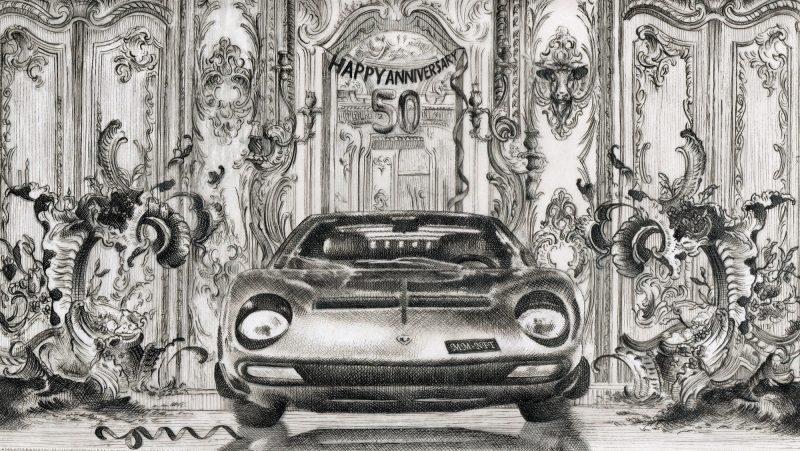 Il Museo Lamborghini mette all'asta Matteo Mauro e altre opere digitali ispirate al mito Lamborghini
