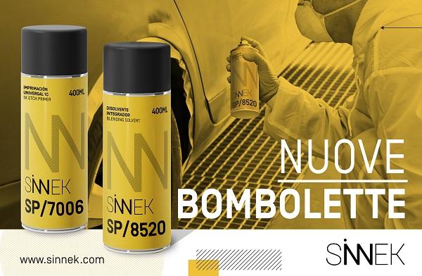 Sinnek lancia due nuovi spray sul mercato