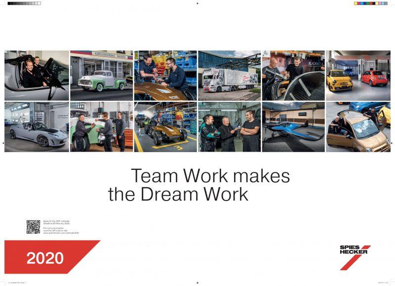 Il calendario Spies Hecker 2020: il lavoro di squadra è fondamentale!