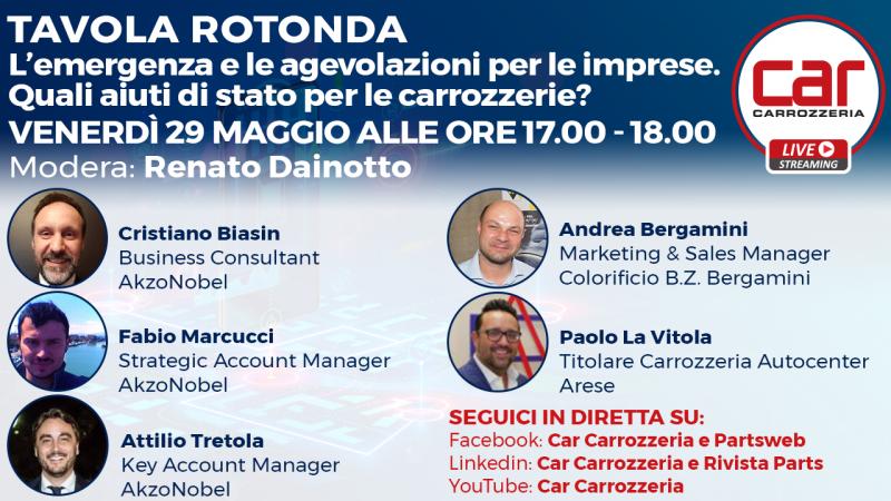 In Diretta con Car Carrozzeria: L'emergenza e le agevolazioni per le imprese. Quali aiuti di stato per le carrozzerie?