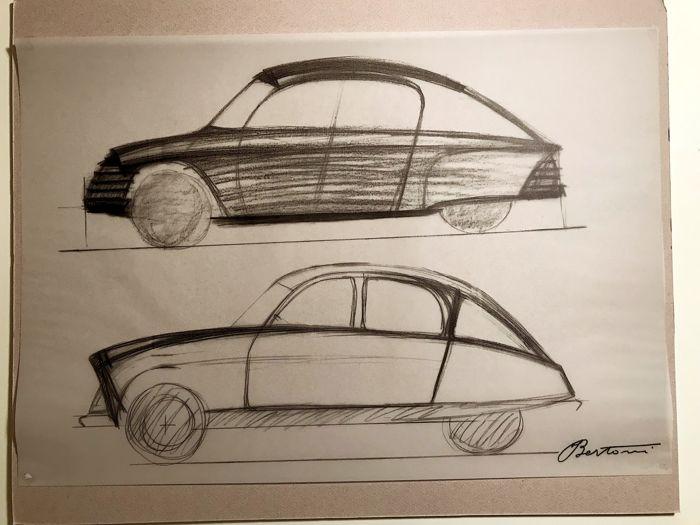 All'asta i più bei disegni di Flaminio Bertoni, l'uomo che inventò la Citroën DS