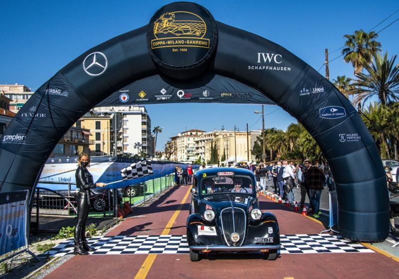 Coppa Milano-Sanremo: i vincitori della gara di auto d'epoca più antica d'Italia