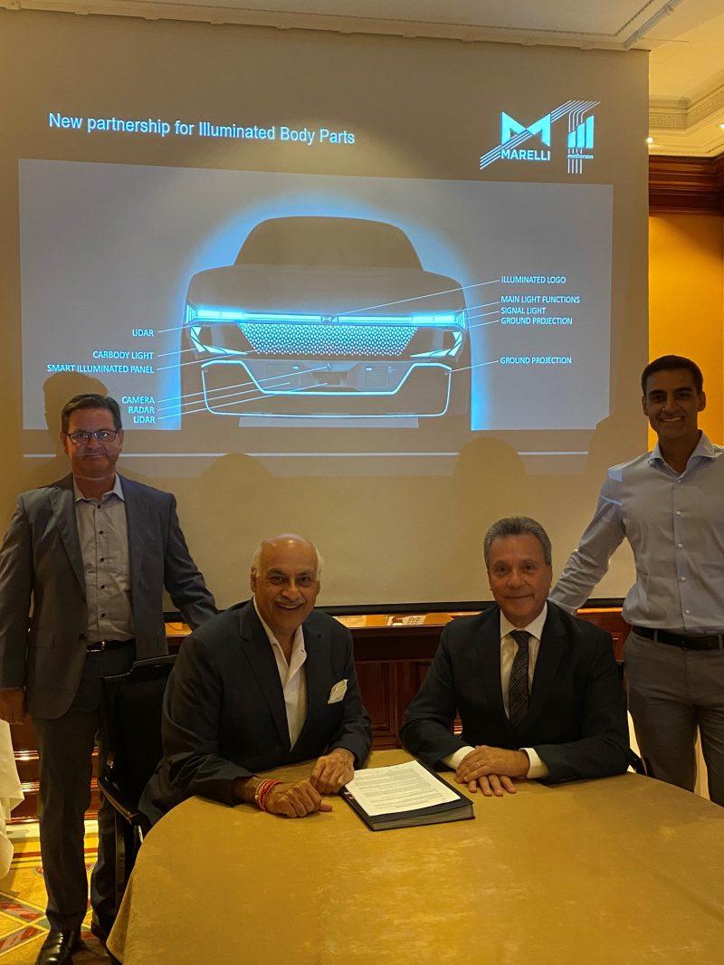 Illuminazione evoluta di pannelli e griglie carrozzeria: Marelli e SMRP BV siglano partnership