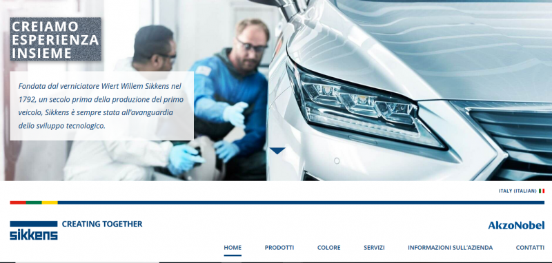 Nuovo sito web per Sikkens Vehicle Refinishes